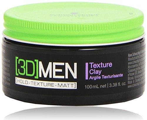 Schwarzkopf [3D] Men –  Cera para cabello, hombre, 100ml
