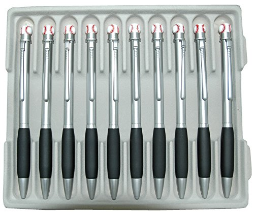 Baseball Twist Metall Kugelschreiber - 10 PC in einem Tablett
