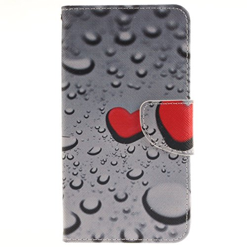 Carcasa LG G3 Stylus, Mejor Funda Tipo Libro Flip Case Cover para LG G3 Stylus D690 PU Funda Cuero Cartera Cubierta Carcasa Dura-Color Gris