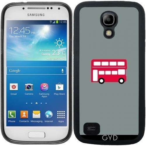 SilikonHülle für Samsung Galaxy S4 Mini (GT-I9195) - Großen Roten Bus by...