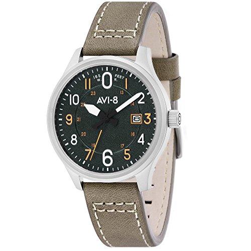 AVI-8 Hawker Hurricane Reloj de Hombre Cuarzo 43mm Correa de Cuero AV-4053-0G