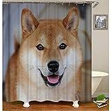 saknn-da Duschvorhang Tier Duschvorhang Forrest Wolf Muster 3D Druck Vorhänge für Bad Wasserdichtes Gewebe Bad Vorhang Angepasst