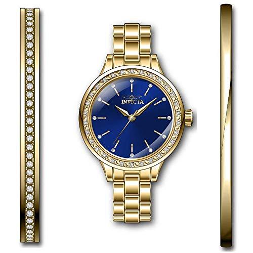 Invicta Angel Reloj de Mujer Cuarzo Correa y Caja de Acero dial Azul 29312