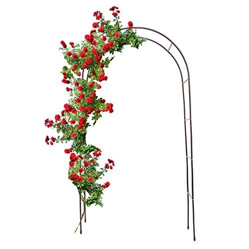Relaxdays arco sostegno per piante rampicanti, in metallo, marrone, 38x140x240 cm
