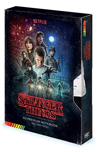 Cuaderno de notas A5Premium-Stranger Things (VHS)