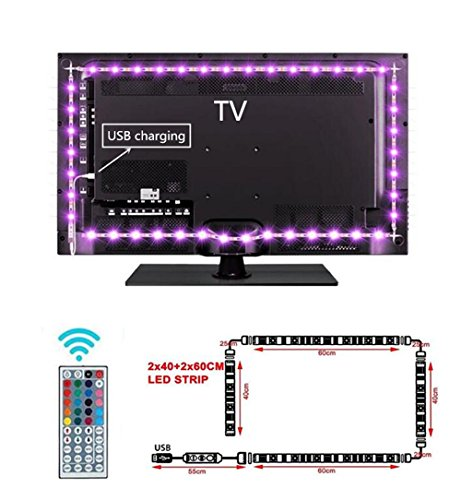 LED TV Backlight, Carryme Color Cambiando 200cm (2X40 + 2X60CM) 60 LED...