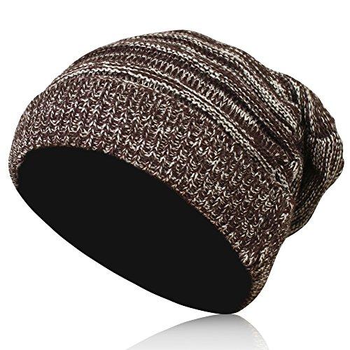 Magic Zone Unisex Strick Acryl Beanie Beret Winter Hut Warm übergroßen Skikappe Hut Bekleidung/Damen/Accessoires/Hüte & Mützen/Strickmützen (Knit Cashmere Beret)