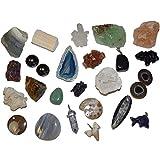 Janni-Shop 24 Edelsteine für Jungen zum Befüllen Adventskalender Kristalle Mineralien Versteinerungen u.v.a.