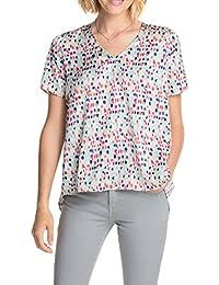 ESPRIT Collection Damen Regular Fit Bluse mit Tupfer Print