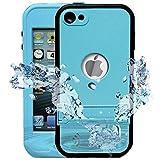 iPod 5 iPod 6 Wasserdichte Hülle Vobon iPod Touch 5/6 Case Kickstand Staubdicht Schnee Verteidigung...