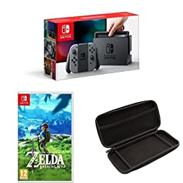Nintendo Switch + The Legend of Zelda: Breath of the Wild + Funda