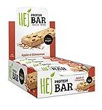 HEJ Protein Bar - Barre protéinée sans sucre ajouté - Barre protéinée Low Carb - Barre protéinée Fitness Bar Protein - Goût chocolat et cacahuètes - 12 paquets (12 x 60g)
