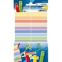 HERMA 15238lápices de etiquetas (de papel, 10x 46mm, adhesivo permanente, para niños) 60unidades, varios colores