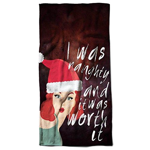 Frech Mädchen Weihnachten Sein Schlecht 30cm x 60cm Badetuch   (Gute Kostüm Burger)