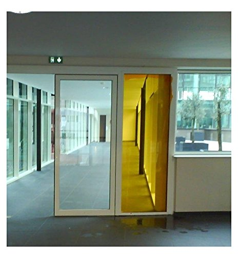 Active Film Transparent Colourful Window Film Self Adhesive- Optically Coloured Clear Yellow Tint 20m x 76cm (30
