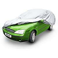 Relaxdays Protective Car Cover Full Car Cover Size: M 432 x 165 x 120 cm Grey preiswert