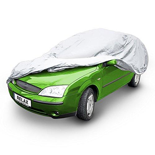 Preisvergleich Produktbild Relaxdays Autogarage, TxBxH: 432 x 165 x 120 cm, Größe M, mit Tasche, Lackschutz im Sommer und Winter, PKW, PEVA, grau