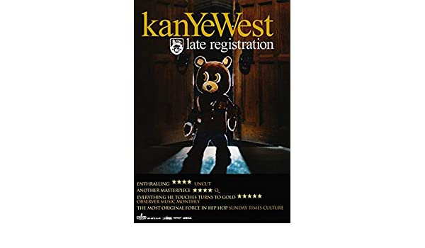abe1953076f8 KANYE WEST Late Registration PHOTO Print POSTER Yeezy Boost 350 Yeezus Jay  Z 013 A3: Amazon.co.uk: Kitchen & Home