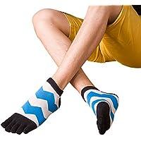 MORESAVE Uomini calzini puri del cotone di sport cinque calzini della punta della barretta in esecuzione Athletic Socks