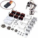 Rot2u 6dof Aluminium Roboterarm Clamp Claw Kit W / Servos für Arduino Mechanische Q