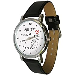 All you need is love and a horse design watch. ideal horsey Gift Idea for any equine Lover