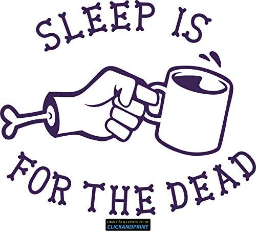 CLICKANDPRINT Aufkleber » Sleep is for the dead, 80x67,5cm, Violett Metallic • Dekoaufkleber /...