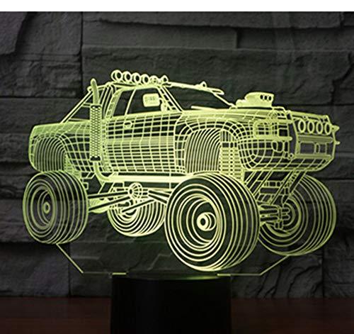 3D LED Nachtlicht Panzer Panzerwagen mit 7 Farben Licht für Heimtextilien Lampe Erstaunliche Visualisierung Off Road