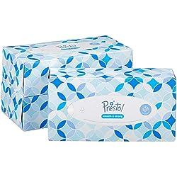 Marque Amazon - Presto! Mouchoirs 4 épaisseurs - Lot de 12 boîtes (12 x 100 mouchoirs)