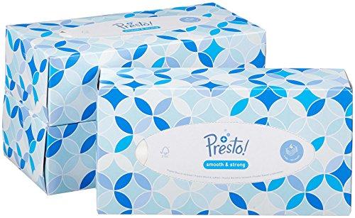 Amazon Marke - Presto! 4-lagige Papiertaschentücher Boxen, 12er Pack (12 x 100 Tücher)