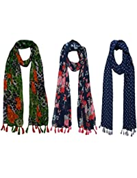 FusFus Printed Scarf and Stoles for Women (Combo of three stoles) (FB25)