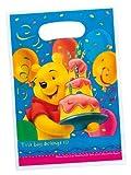 Winnie the Pooh Geburtstag Geburtstagstüten Tüten Mitgebsel 6Stück