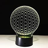 Ball 3D Led Touch Illusion Lamp Stunning Three-Dimensional Effect 7 Colors Changing Creative Design Led Desk Lamp Night Light Christmas Prank Gifts