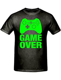 GAME OVER T SHIRT,GAMING T SHIRT, CHILDREN'S T SHIRT, BOY'S CHRISTMAS GIFT T SHIRT, XBOX T SHIRT (9-11 YEARS, BLACK & GREEN)