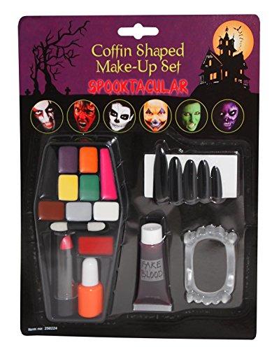 New Face Paint Kit Make-up Set SCARY Halloween Farben Fancy Kleid Kostüm Outfit Zubehör Ideal für Kinder und Erwachsene beiden