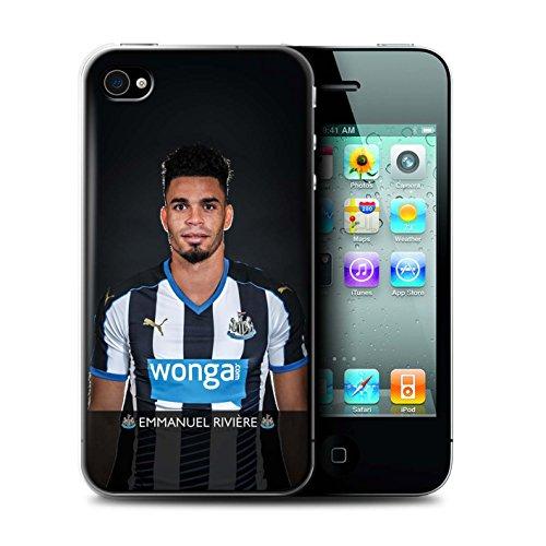 Officiel Newcastle United FC Coque / Etui pour Apple iPhone 4/4S / Pack 25pcs Design / NUFC Joueur Football 15/16 Collection Rivière