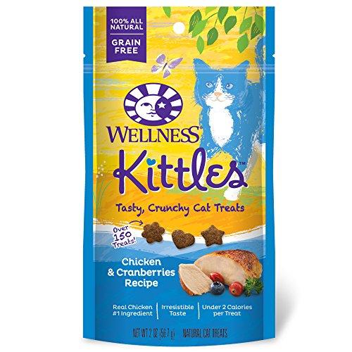 Wellness KITTLES Cat Treats crujiente natural sin grano, 2-Ounce bolsa