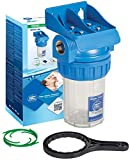 """Caja de filtro de tres piezas de 3 """"Juego de filtración de agua en línea Envase de latón de 1/2"""" bsp"""