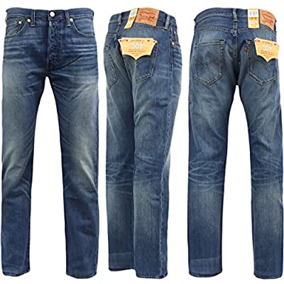 Levi Strauss 501 Straight Fit Denim Lightweight Jean 'Cast Iron' Blue 30 32 34 36 38
