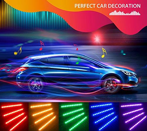confronta il prezzo Striscia LED Auto con APP, Minger LED Auto Interni 72 LEDs, Musica Attivata dal Microfono + Vari Colori + Controllo APP per decorare Auto miglior prezzo