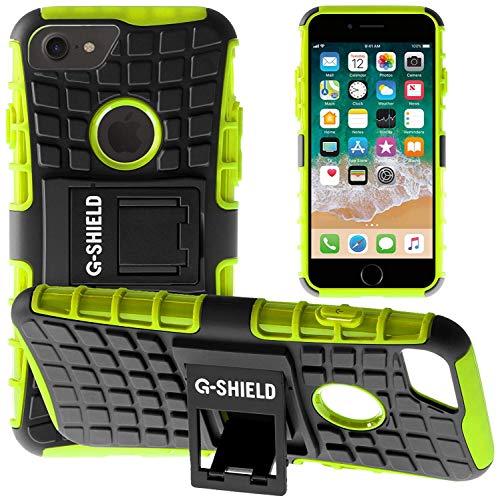 G-Shield Hülle für iPhone 8/iPhone 7 Stoßfest Schutzhülle mit Ständer - Grün