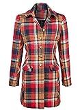 Damen Mantel im hochwertigem gewebten Karodessin by Alba Moda Red