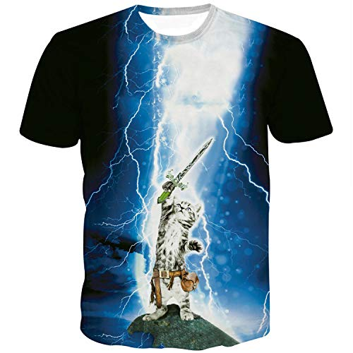Feuer-jugend-t-shirt (Sykooria Jugend T-Shirt Herren 3D Druck Krake Kurzarm Sommer T-Shirt für Jungen)