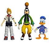 Kingdom Hearts Select Series 2 Roxas, Donald, & Goofy Action-Figur Set