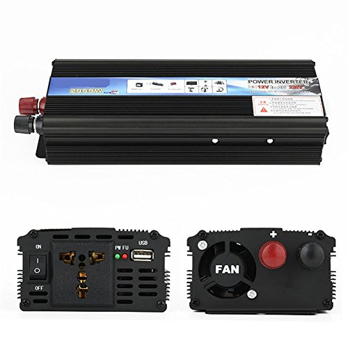 Spannungswandler Auto Power Inverter 2000W Inverter Low-Power-Solar-Konverter 12v 24V wiederum 220V, Tabletten und Handys, 24v to 220v/2000w - 2000 Inverter