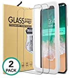 iPhone X Panzerglas, [2 Stück]ApoGo iPhone X 10 Schutzfolie 5.8 Zoll Härtegrad 9H, 5-Mal Verbesserte Gehärtetes Glas,