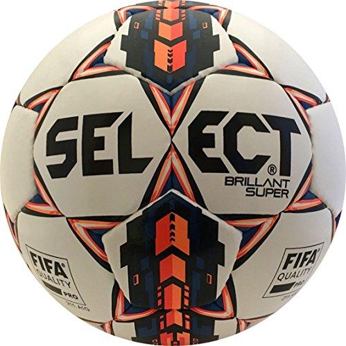 Seleccione deporte América brillant Super balón de fútbol, color blanco, tamaño talla 5