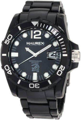Haurex Italy - N7354UNN - Montre Homme - Quartz Analogique - Bracelet Plastique Noir