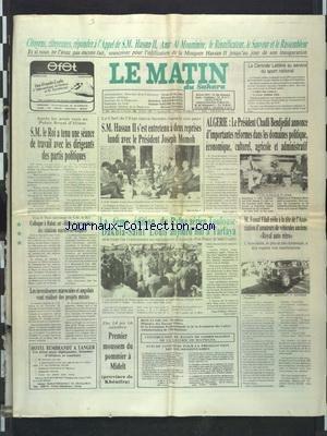 MATIN DU SAHARA (LE) [No 6481] du 12/10/1988