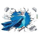 JUNMAONO Frozen Dibujos Animados Pegatina De Pared/Póster De Pared/PVC Mural/Decoración Vinilo...