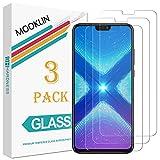 MOOKLIN Panzerglas Displayschutzfolie für Huawei Honor 8X, 9H Härte, Anti-Kratzen, Anti-Bläsche, [3 Stück]